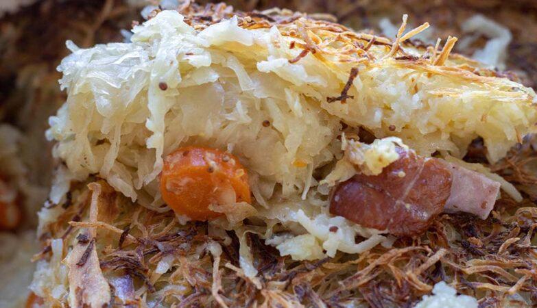 Choucroute en croûte de pommes de terre