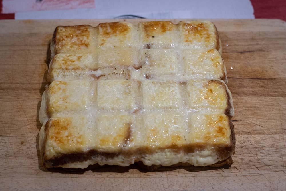 Croque tablette à la raclette