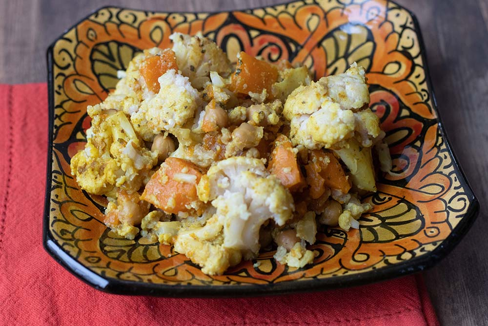 Curry de patate douce et chou-fleur (au Cookeo ou sans)