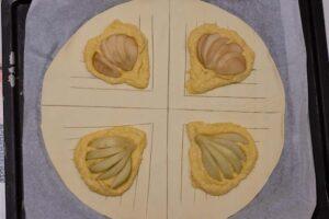 Feuilletés tressés aux poires et à la crème d'amandes 5