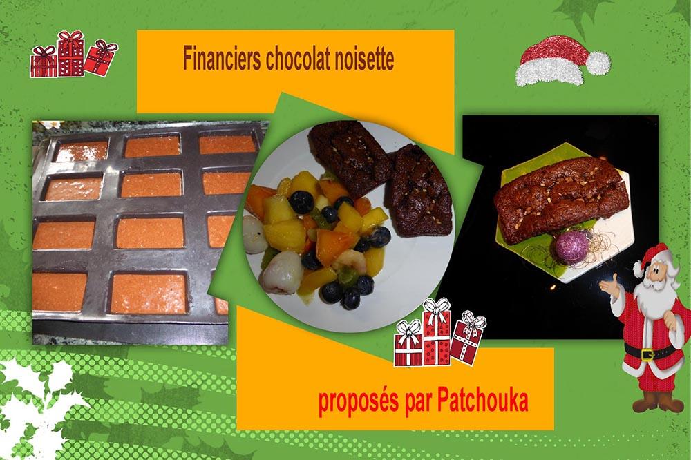 Financiers chocolat noisette