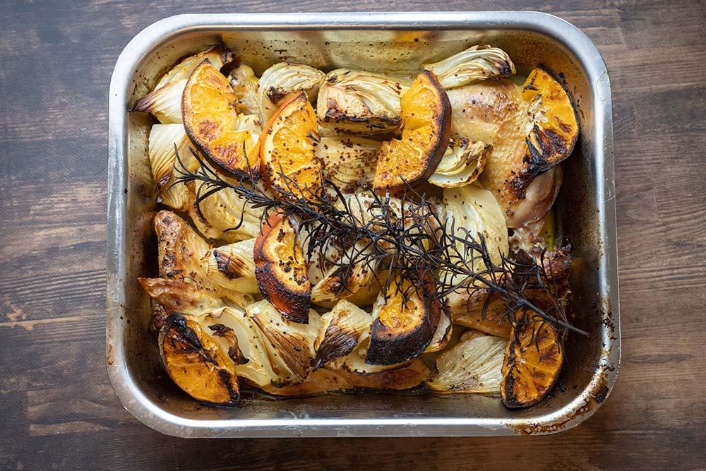 Poulet rôti au fenouil et à l'orange façon Ottolenghi 1