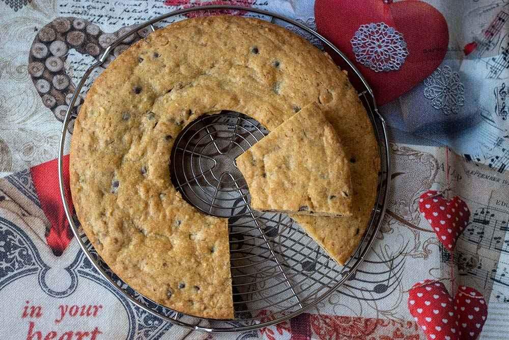 Cookie géant pépites de chocolat pralin