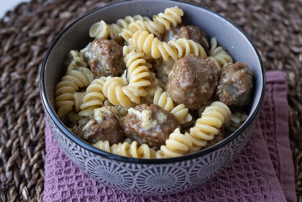 Fusillis et boulettes de viande à la mozzarella (au Cookeo ou sans) 1