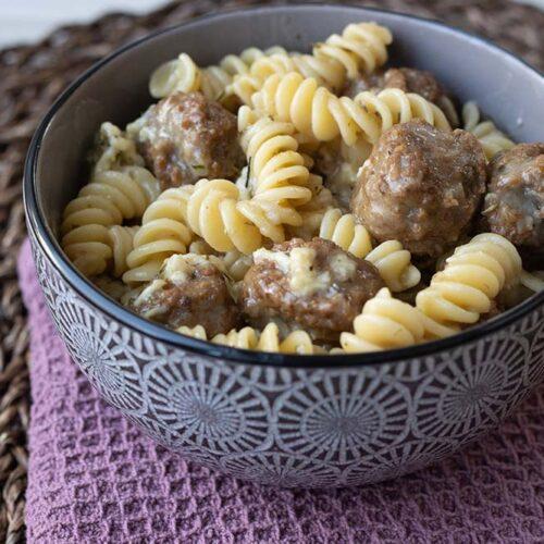 Fusillis et boulettes de viande à la mozzarella (au Cookeo ou sans)