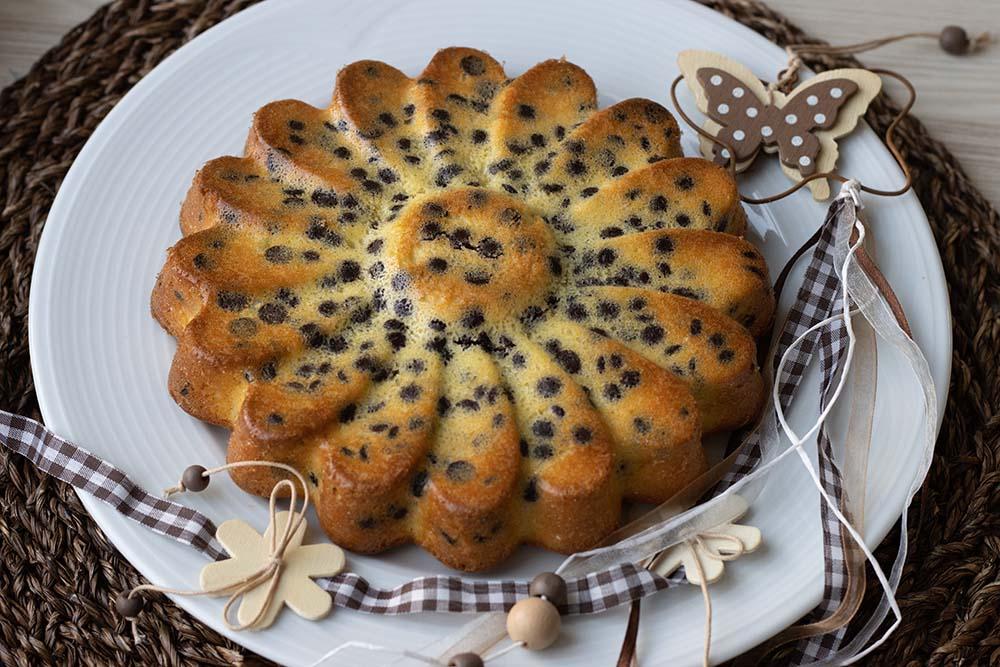 Gâteau à l'orange et aux pépites de chocolat moule marguerite Demarle 1
