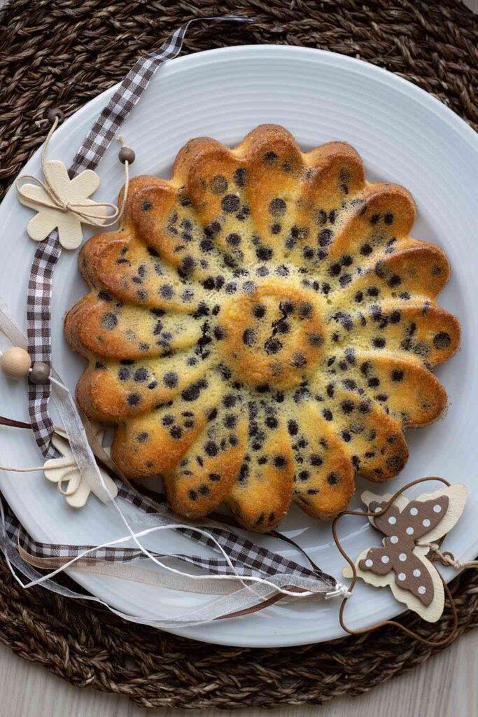 Gâteau à l'orange et aux pépites de chocolat moule marguerite Demarle 2