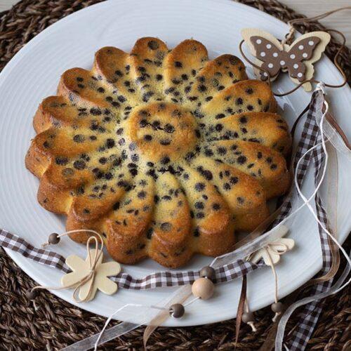 Gâteau à l'orange et aux pépites de chocolat moule marguerite Demarle