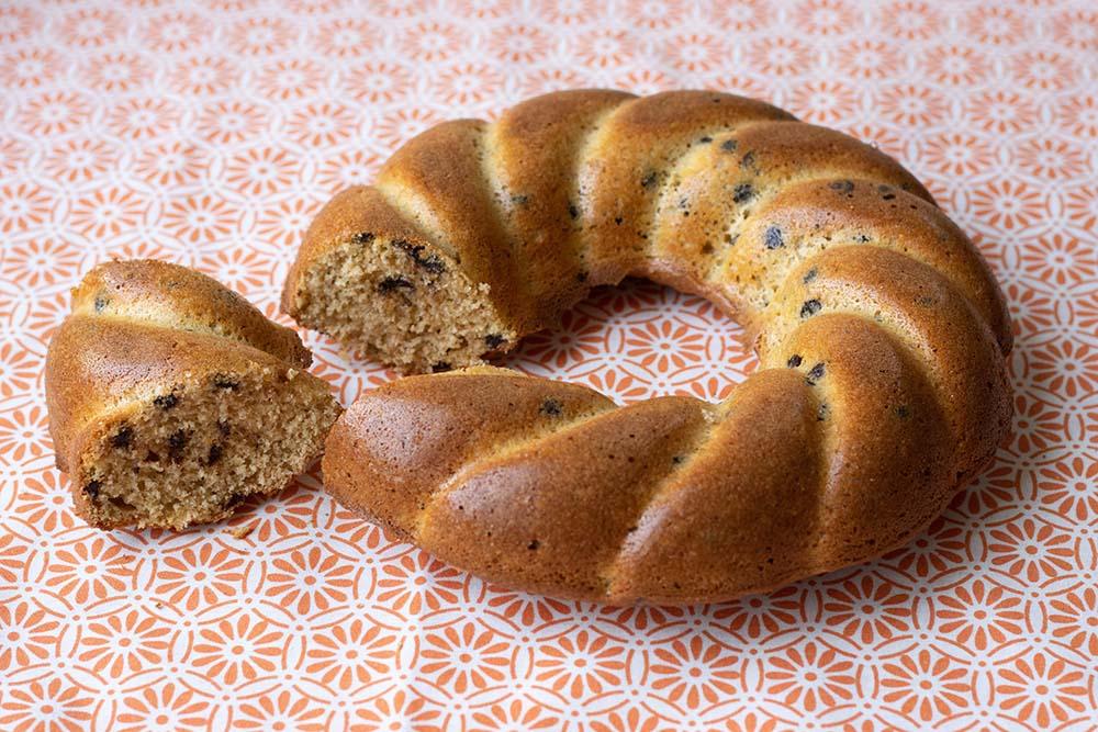 Gâteau du matin au chocolat et à l'orange moule couronne torsadée Demarle Flexipan 2