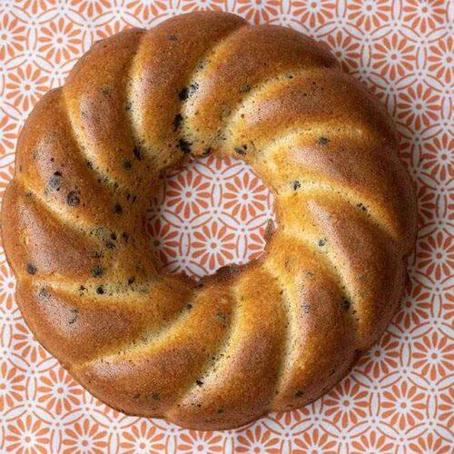 Gâteau du matin au chocolat et à l'orange moule couronne torsadée Demarle Flexipan