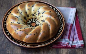 Gâteau du matin citron chocolat moule couronne torsadé Demarle Flexipan