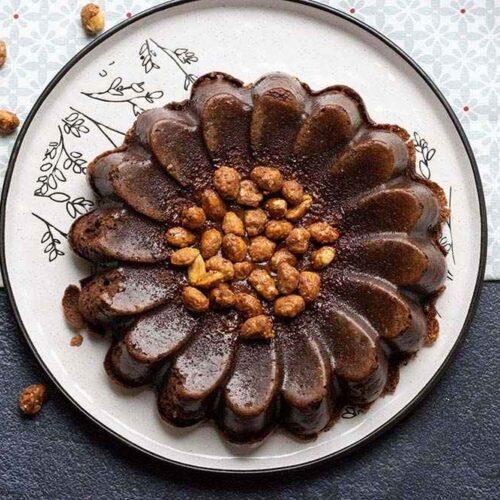 Le breton (recette de Sophie Dudemaine) moule marguerite Demarle Flexipan gâteau chocolat