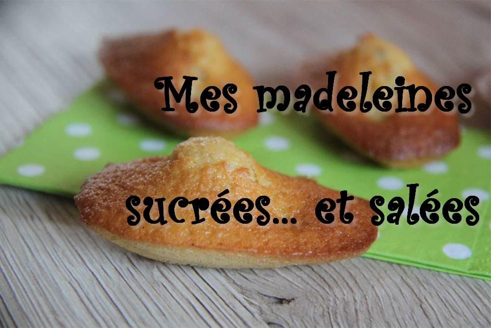 Mes madeleines sucrées et salées (index de recettes)