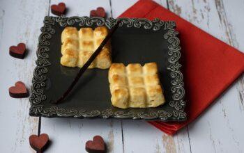 Mini-flans parisiens vanille, sans pâte (recette de Christophe Michalak) petites tablettes Demarle Flexipan