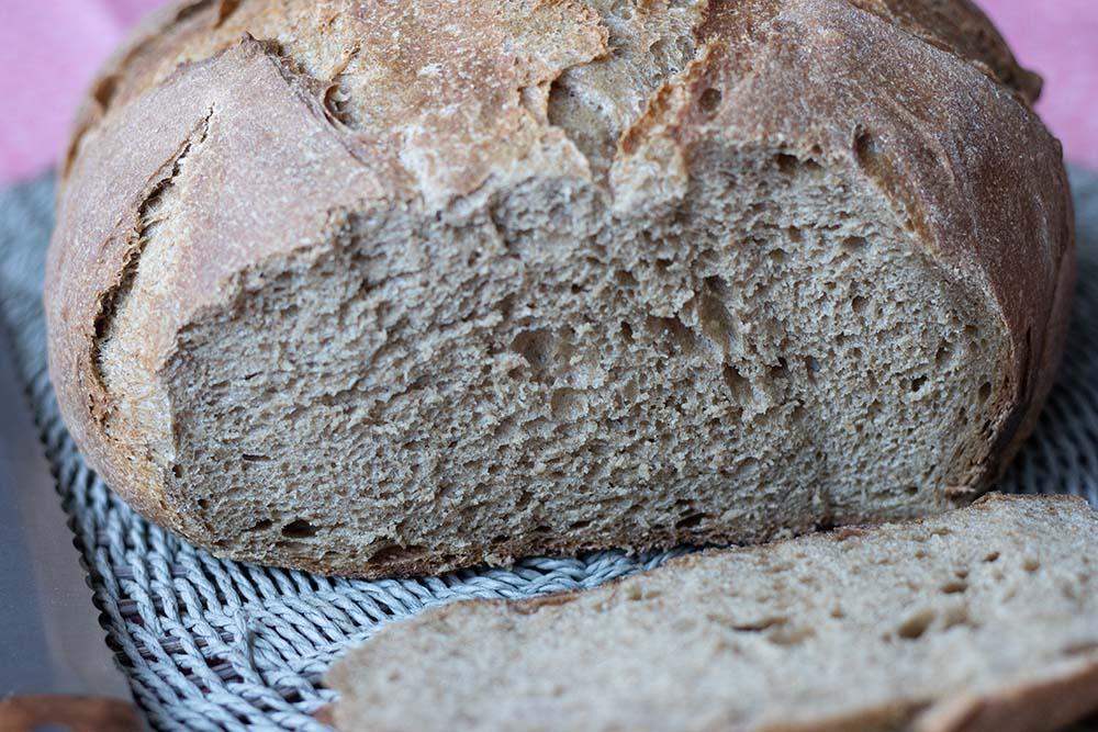 Pain de seigle et semoule (cuisson cocotte) 1