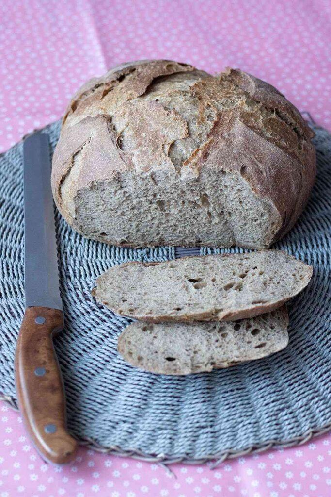 Pain de seigle et semoule (cuisson cocotte) 2