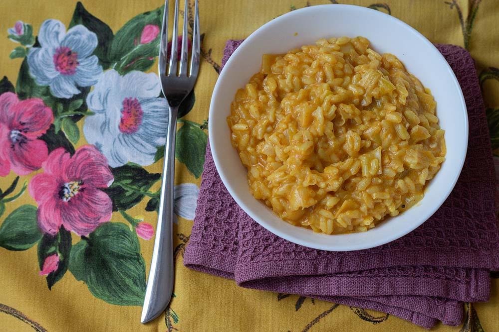 Risotto crémeux au poireau et lait de coco (au Cookeo ou sans)