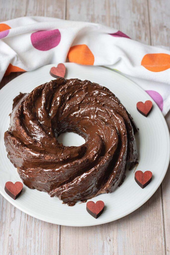 Angel cake au chocolat bundt cake 2