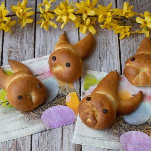 Brioches lapins Pâques