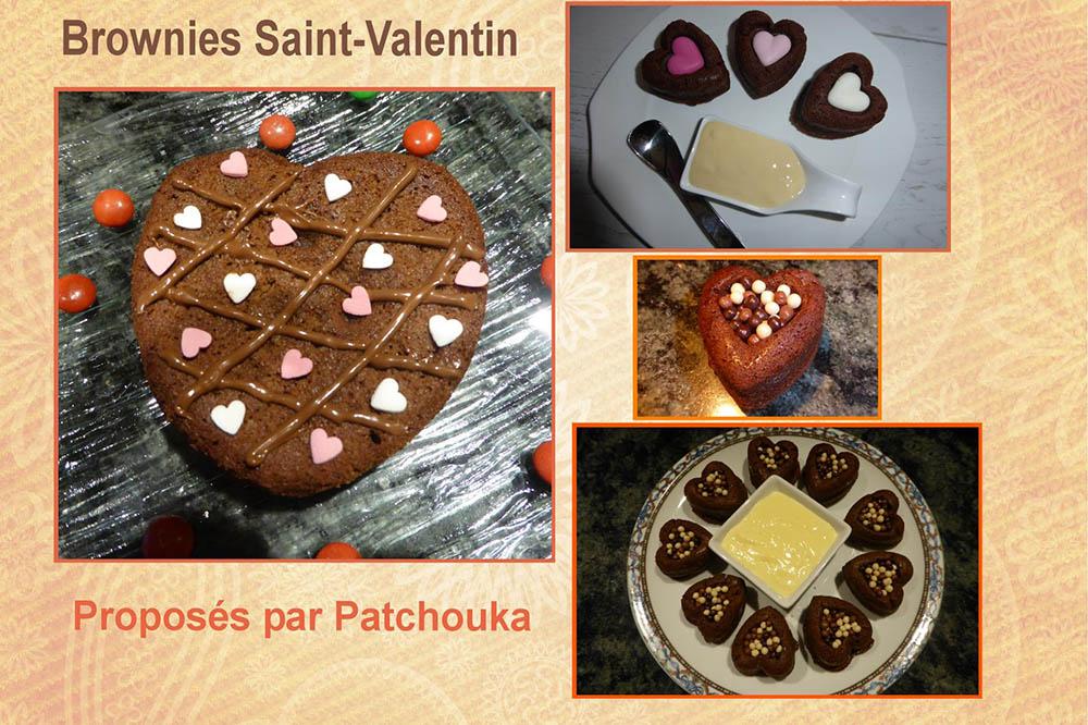 Brownies Saint Valentin