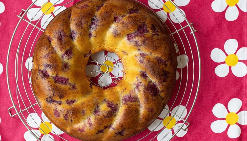 Couronne au lait concentré citron framboises couronne torsadée Demarle