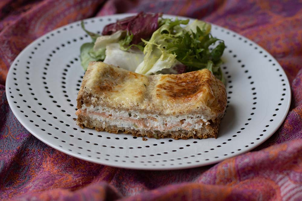 Croque tablette au saumon fumé