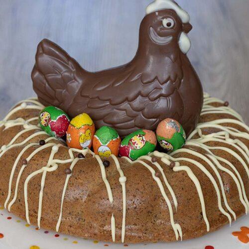 Gâteau italien aux noisettes et au café (sans farine - sans gluten) moule couronne torsadée Demarle gâteau de Pâques
