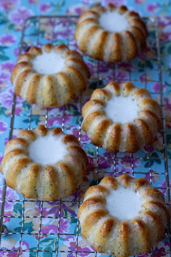 Mini Bundt Cakes Citron Pavot moule volcans Demarle Flexipan 2