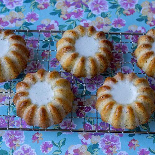 Mini Bundt Cakes Citron Pavot moule volcans Demarle Flexipan