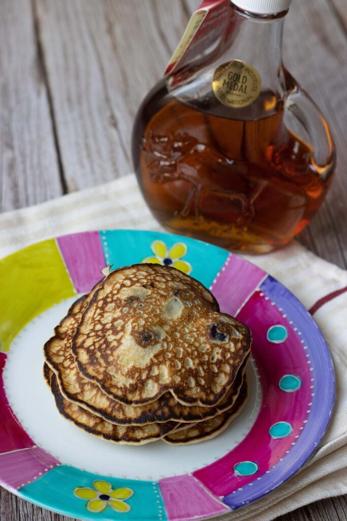 Pancakes aux myrtilles et au sirop d'érable 1