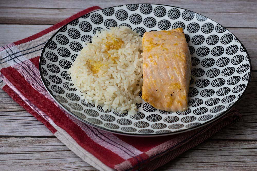Pavés de saumons rôtis aux agrumes