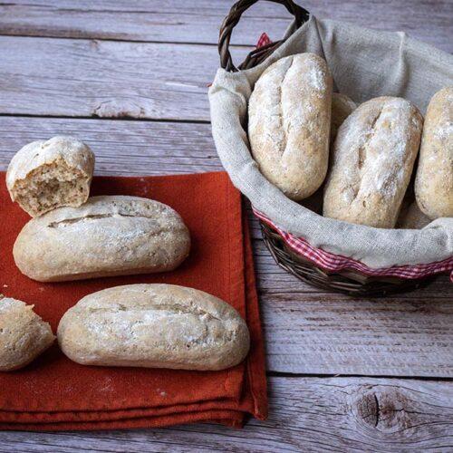 Petits pains d'épeautre allongées Flexipan air