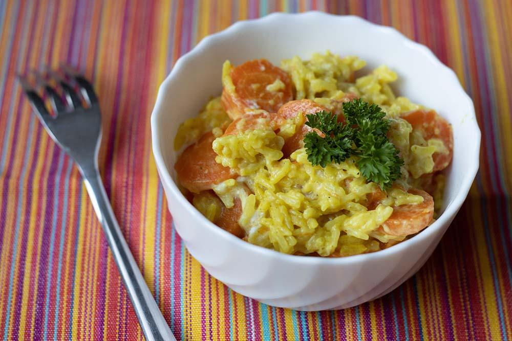 Riz aux carottes et aux épices (au Cookeo ou sans)