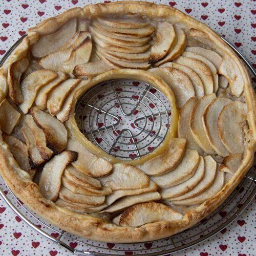 Tarte Victor (pommes, bananes) de Christophe Michalak moule tarte couronne Demarle