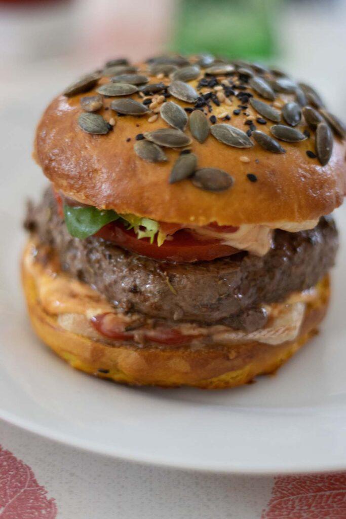 Buns au maïs pains hamburgers maison 6