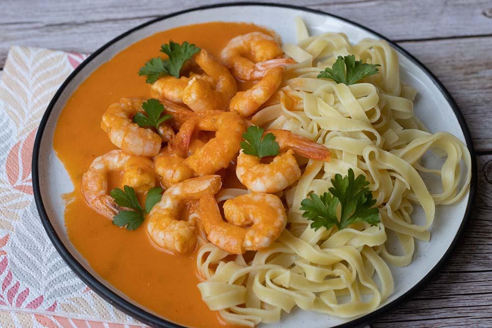 Crevettes à l'américaine, sauce tomate et cognac (au Thermomix ou sans) 1