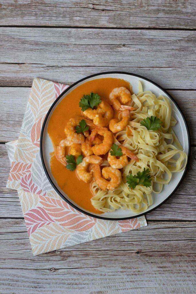 Crevettes à l'américaine, sauce tomate et cognac (au Thermomix ou sans) 2
