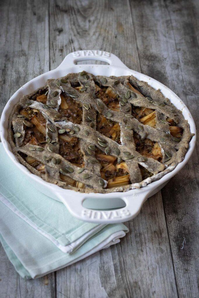 Crostata d'épeautre aux asperges et aux petits pois 2
