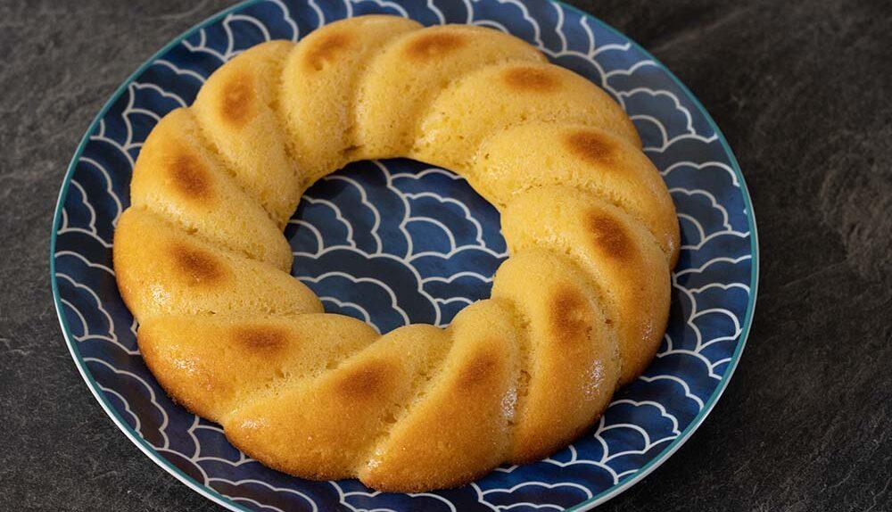 Gâteau au citron (recette de Cyril Lignac) moule couronne torsadée Demarle Flexipan