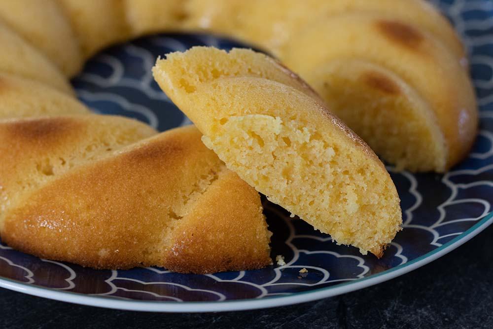 Gâteau au citron (recette de Cyril Lignac) moule couronne torsadée Demarle Flexipan 2