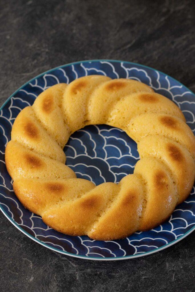 Gâteau au citron (recette de Cyril Lignac) moule couronne torsadée Demarle Flexipan 3