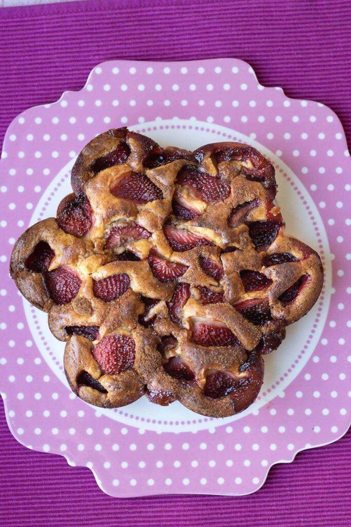 Gâteau aux fraises 2 moule fleur Tupperware