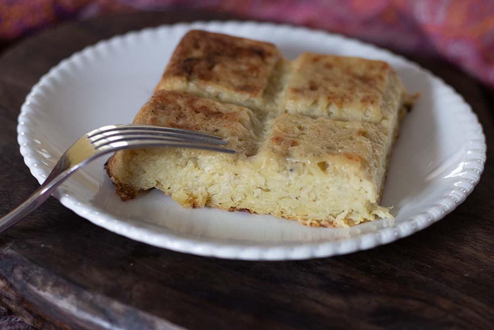 Gâteau de pommes de terre aux oignons moule tablette Demarle Flexipan 1