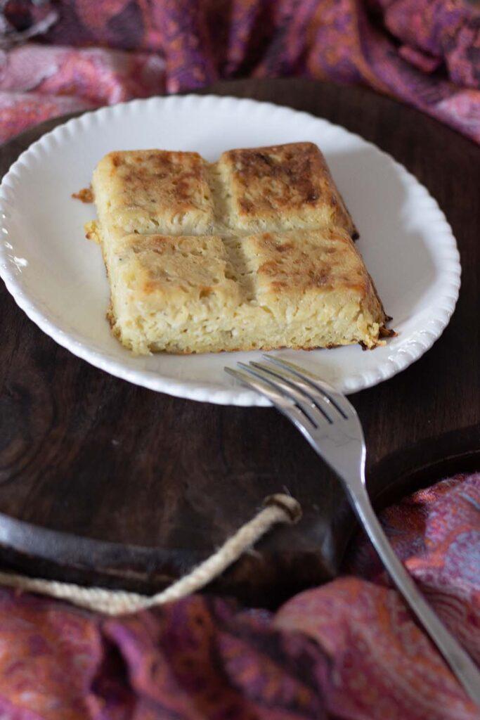 Gâteau de pommes de terre aux oignons moule tablette Demarle Flexipan 2