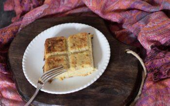 Gâteau de pommes de terre aux oignons moule tablette Demarle Flexipan