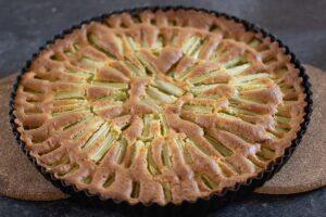 Gâteau rhubarbe en soleil 3