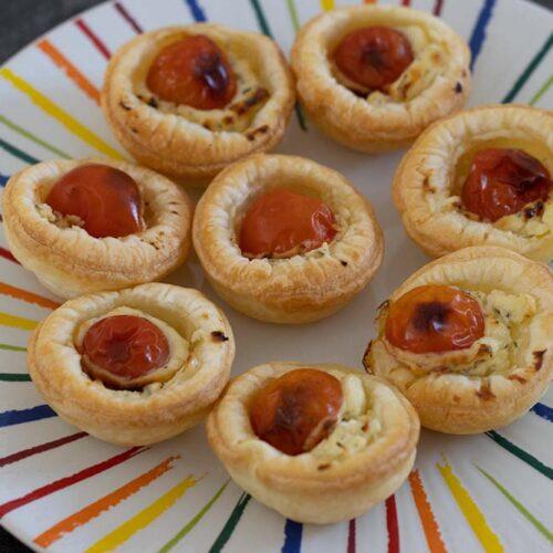 Mini tartelettes Boursin et Tomates cerises