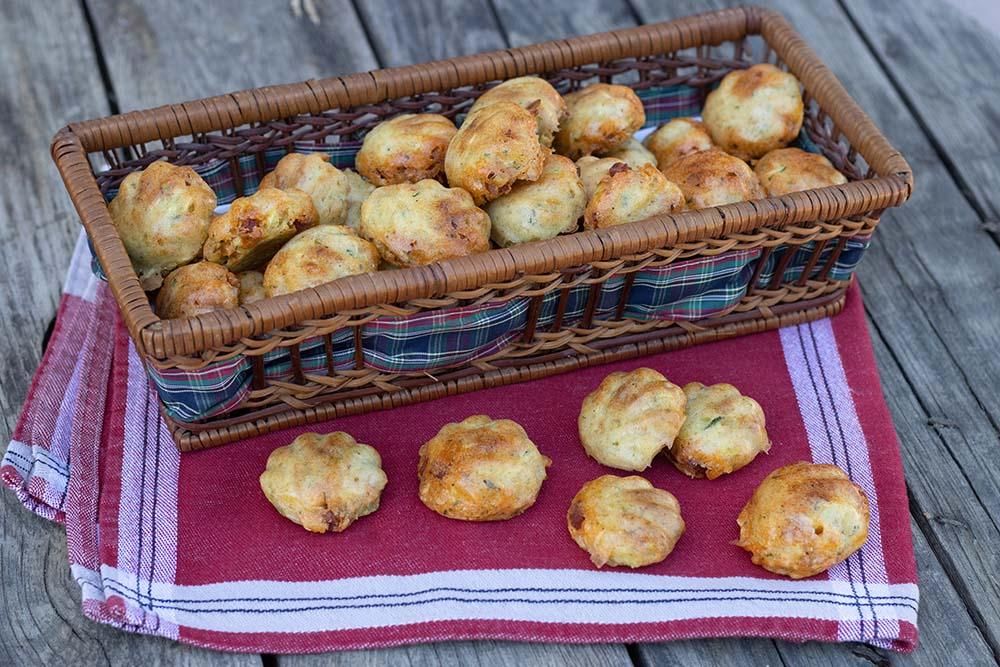 Bouchées courgette chorizo