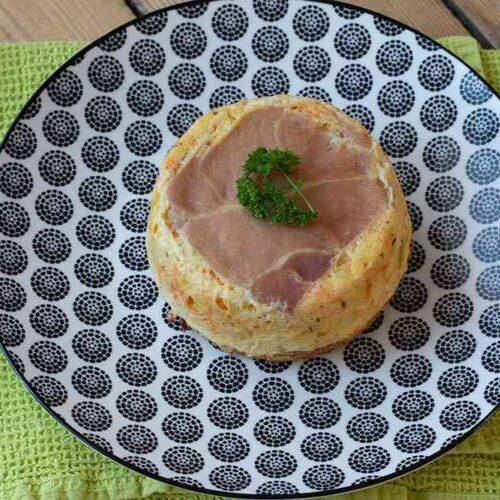 Croque quiche Terre Mer jambon cru, saumon et légumes grands ronds Demarle Flexipan