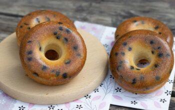 Donuts au mascarpone et pépites de chocolat Donuts Demarle Flexipan
